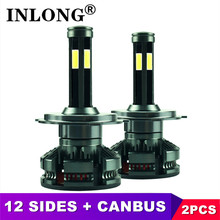 INLONG 2Pcs 9005 Hb3 Led Canbusไม่มีข้อผิดพลาดH4 H7 หลอดไฟLED H8 H9 H11 HB4 9006 Ledไฟหน้าMini 6500K 16000LMหมอกไฟ