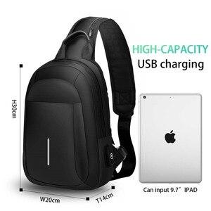 Многофункциональная мужская сумка через плечо с usb-зарядкой, нагрудная сумка, короткий мобильный телефон, нагрудная сумка, водонепроницаем...