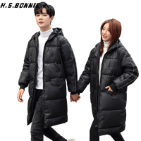 2019 New Fashion down Cotton Winter Jacket Mens And Ladys A Couple Style Warm long Outdoor Parkas Thick Winter Hooded Jacket