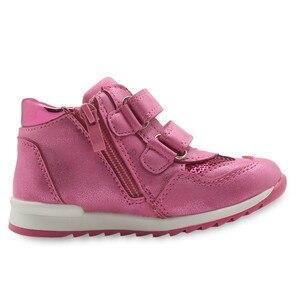 Image 3 - Primavera outono meninas sapatos nova criança de couro do plutônio crianças tênis com zip anti deslizamento sapatos para meninas eur 21 26