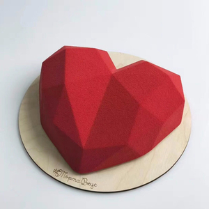 3D Diamond Love Heart Shape Food Grade Silicone Molds For Baking Sponge Chiffon Mousse Dessert Cake Molds Kitchen Baking Tool
