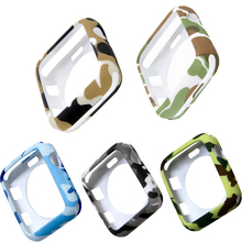 Camouflage soft TPU watch case for apple 3 2 1 protector 42mm iwatch 38mm Bumper Frame watches Accessories