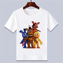 Camiseta Harajuku de chico en 3D Five Night At Freddy Fnaf chico s, camisetas con estampado de dibujos animados para niños y niñas, ropa Unisex 0256