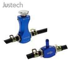 Justech синий турбо Boost Турбонагнетатель с Контролером Boost Bleed клапан алюминиевый сплав регулируемое Универсальное автомобильное руководство контроллер