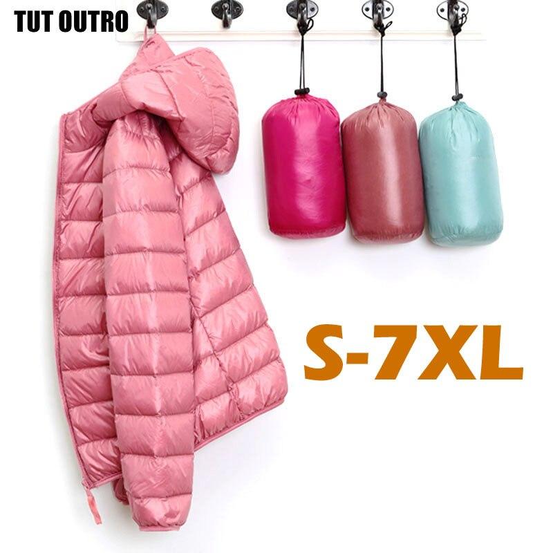 Женский ультра легкий пуховик с капюшоном, зимние пуховые пальто, женская теплая лёгкая куртка с капюшоном, мягкая женская верхняя одежда, 541