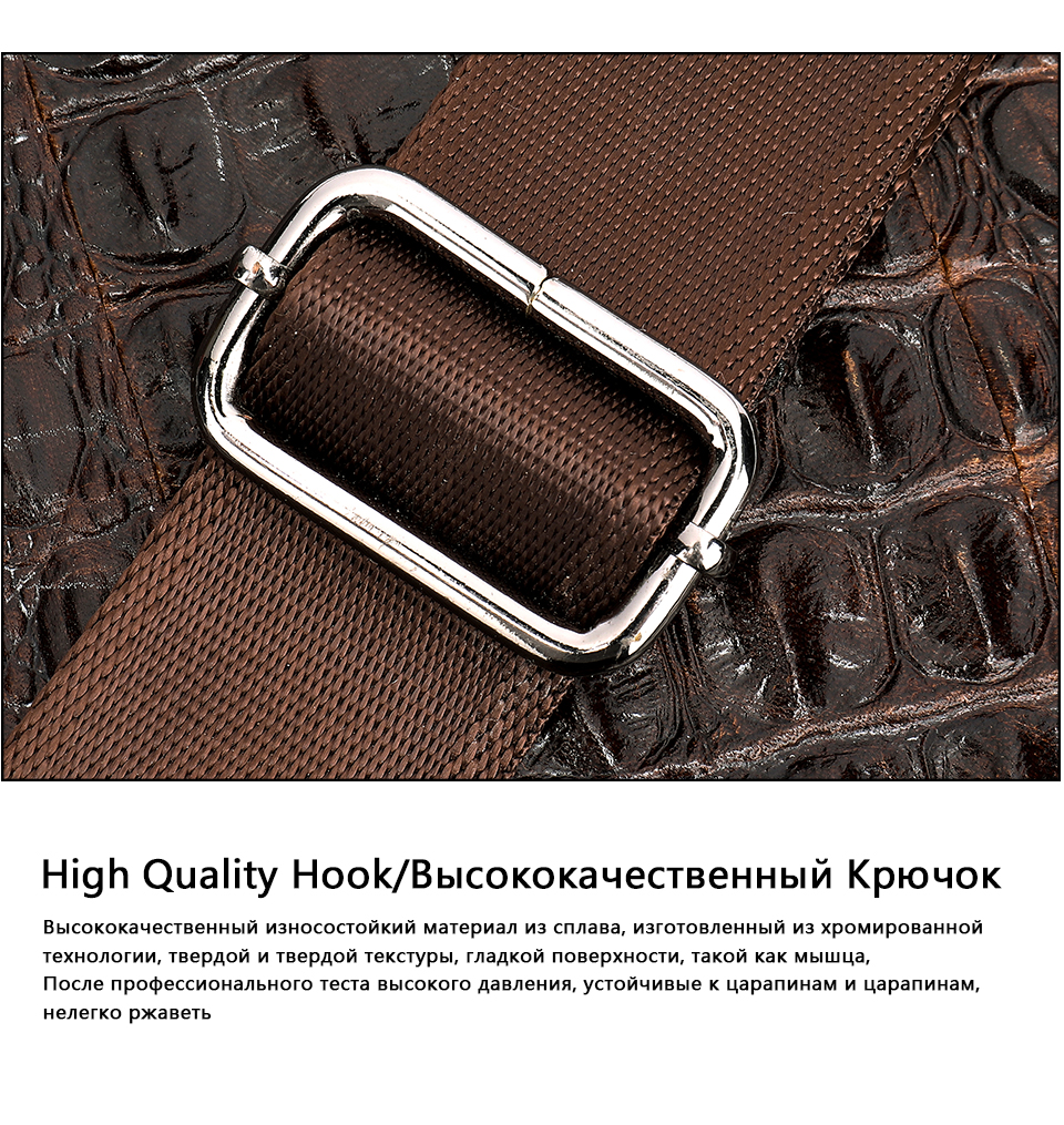 H254b8d81273342a98d61c47075e9885es WESTAL Men Briefcase Men's Bag Genuine Leather Office Bags for Men Laptop Bag Leather Briefcase Men Croco Design Computer Bags