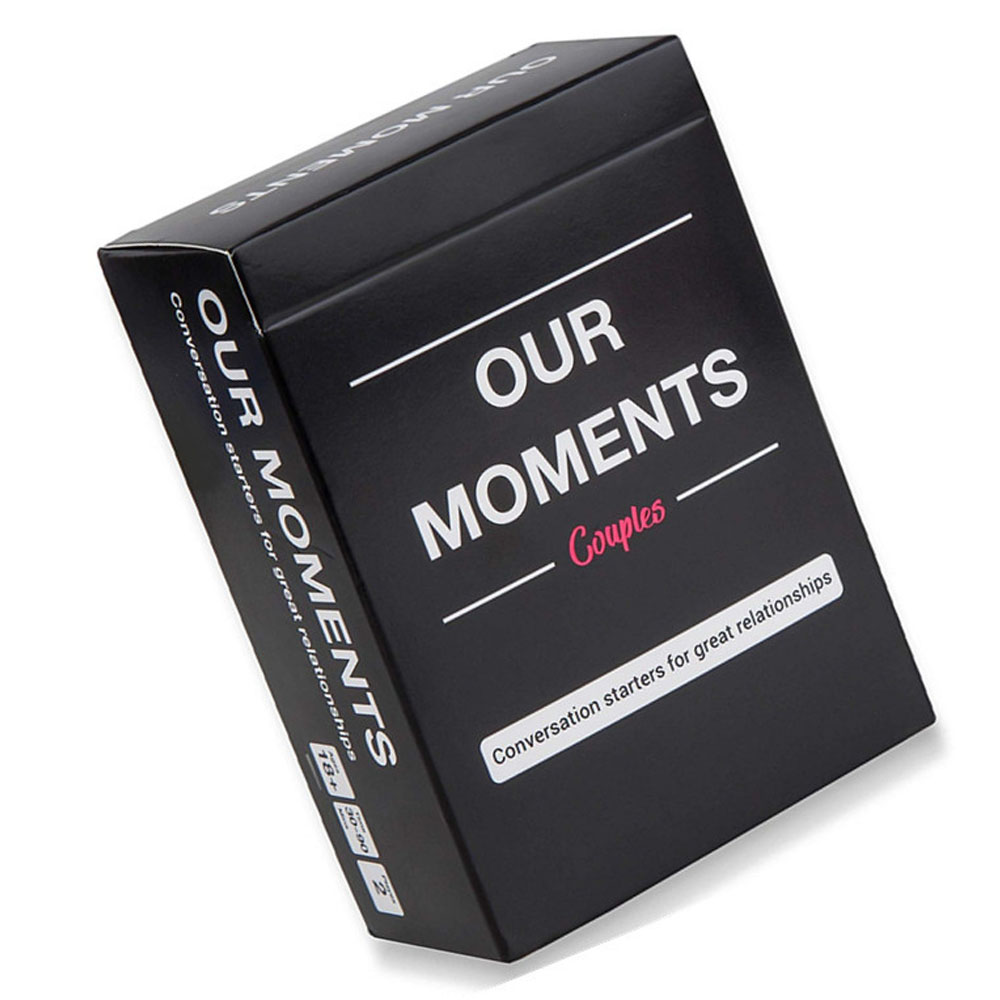 OUR MOMENTS Couples Kids Board Game Conversation Starters for Great Relationships Cards Game Fun Entertainment Playing Games image
