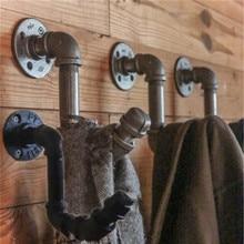 Válvula de vapor Industrial Vintage MTTUZK de hierro, tubería de agua, manto de pared, gancho, soporte para sombrero, perchero, perchero, accesorios para cocina y baño