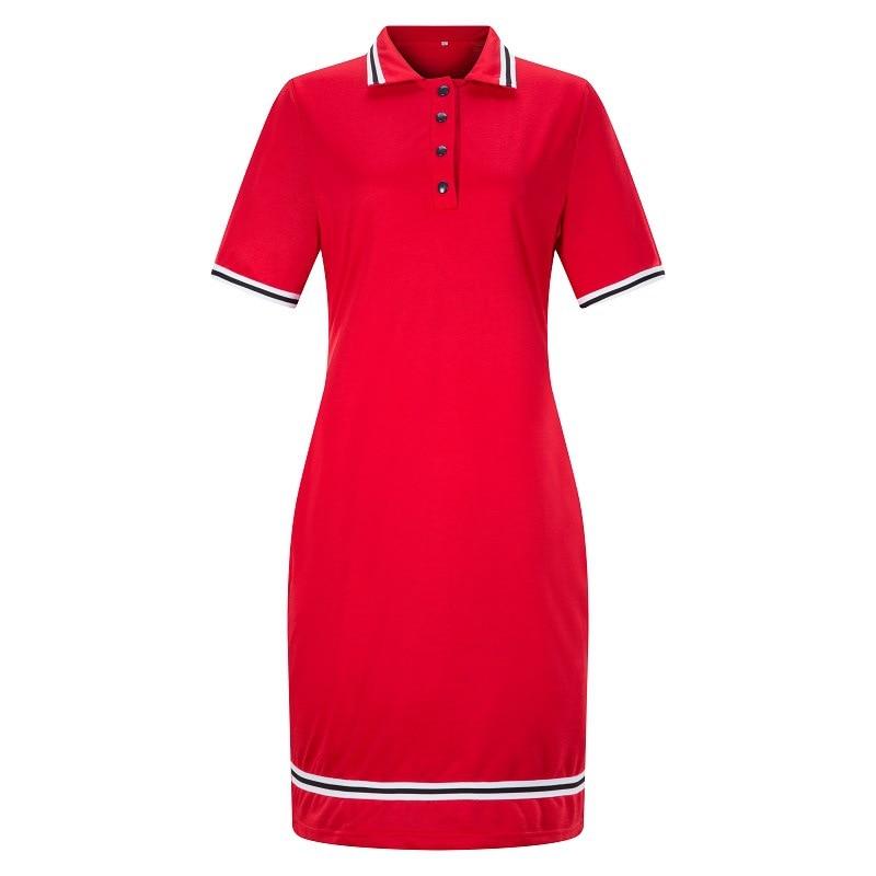Blue Polo Shirt Dress Women Elegant Short Sleeve Striped Bodycon Kleid Plus Size Dresses For women 4xl 5xl 6xl Casual Jurken