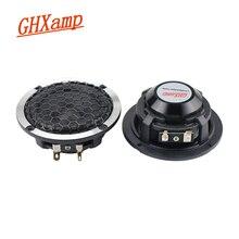 GHXAMP 3 inch Car Midrange Speaker Wool Basin hexagonal net 91 aluminum basin frame Full Range speaker with Cover