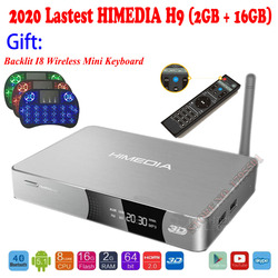 2020 Upgraded HIMEDIA H9 4K 3D UHD Android TV Box 2GB 16GB Octa Core Smart Home TV 2.4GHz 5GHz Dual WiFi Network Media Player