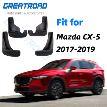 Przednie tylne błotniki samochodowe dla Mazda CX-5 CX5 2nd Gen KF 2017 2018 2019 błotniki błotniki błotniki błotniki akcesoria samochodowe tanie i dobre opinie Iso9001 High Grade Semi-Rigid ABS Platic Protection Mud Flaps 1998-2005