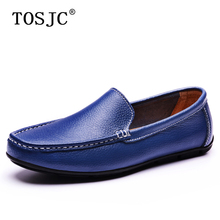 TOSJC Summer Mens Casual Loafers Breathable Slip-on Boat Shoes for Man Comfortale Lightweight Flats Moccasins Soft Driving Shoes стоимость