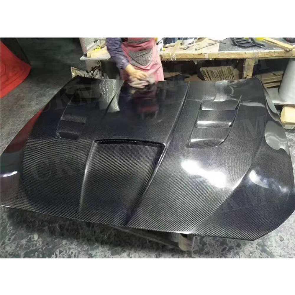 In Fibra di carbonio del Motore Anteriore Hood Bonnet Vent Copertura per BMW 5 Serie F10 520i 525i 530i 535i 2012-2017