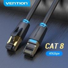 Vention Cat8 Ethernet Кабель SSTP 40 Гбит/с 2000 МГц Cat 8 RJ45 сетевой патч-корд для маршрутизатора модем интернет RJ 45 Ethernet кабель