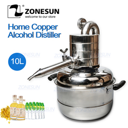 ZONESUN Laboratory Water Distiller Essential Oil Alcohol Whisky Water Distiller Wine Making Device Kit Water Distiller Equipment
