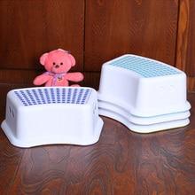 Chair Step-Stool Bathroom Kitchen Kids Children Stackable Plastic Anti-Slip