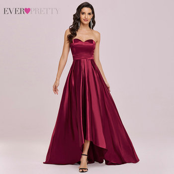 Burgundy Prom Dresses Woman Party Night Ever Pretty A Line Backless Sweetheart Elegant Formal Gowns New Arrival 2021 Vestidos 2
