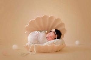 Image 3 - Dvotinst Newborn Photography Props Baby Posing Iron Posing Cameo Shell Conch Fotografia Accessorio Studio Shoots Photo Props