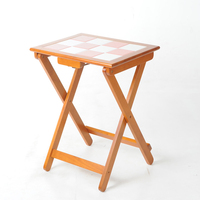 Solid Wood Folding Tables Simple Household Small Portable  Square  Training  To |  -