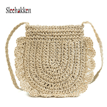 Straw bag Hand-woven Luxury Handbags Portable Diagonal Package Women  bags Designer High Quality Craft for 2019