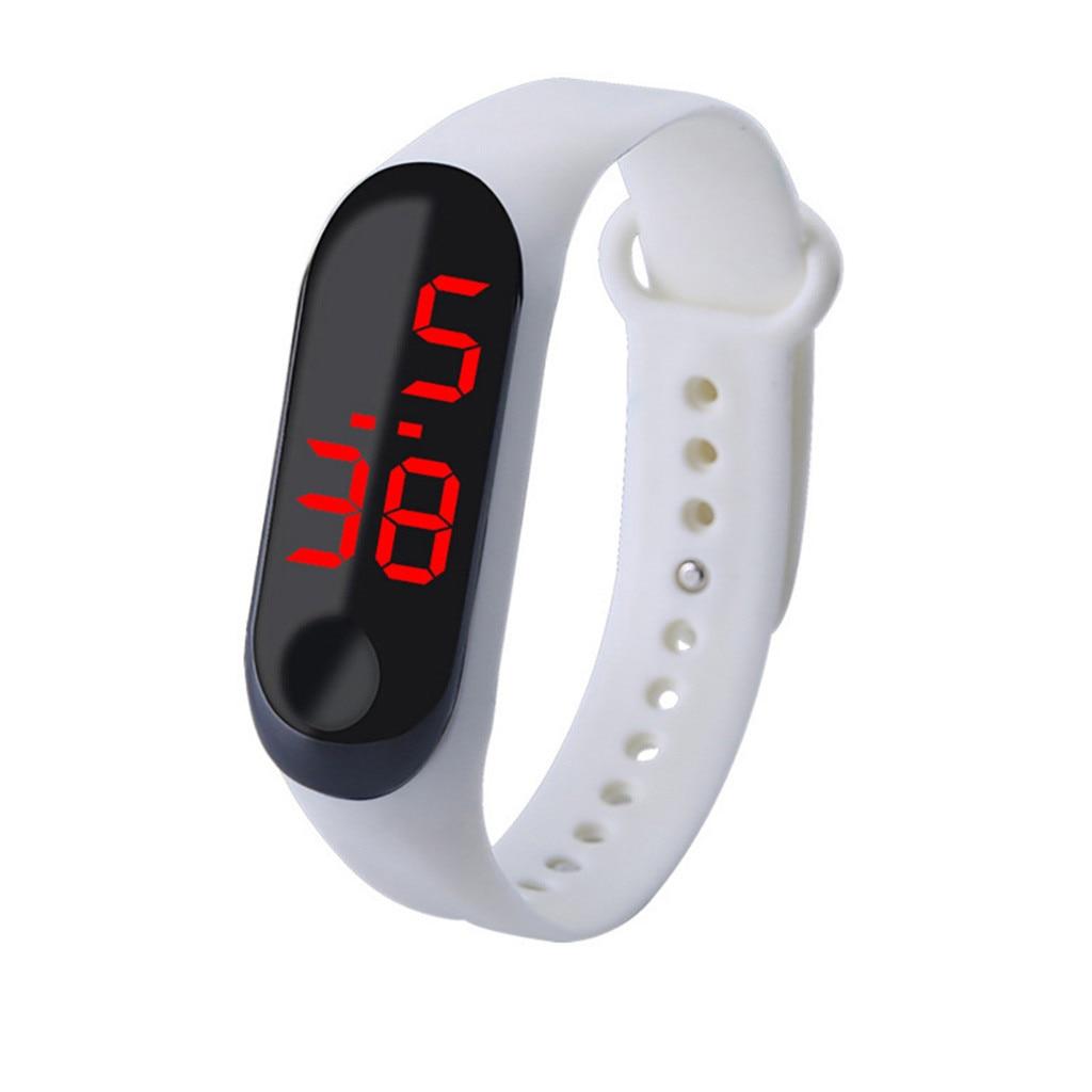 Simple Women Watch Waterproof Feel Screen Led Sports Fashion Electronic Watch Relgio esportivo quente reloj inteligente mujer