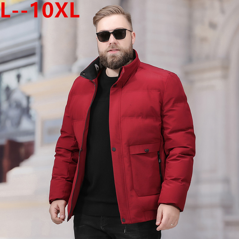 Big 10XL 8XL 6XL Men 2020 Winter New Casual Thick Cotton Pockets Parkas Jacket Men Fashion Outwear Windproof Warm Parka Coat Men