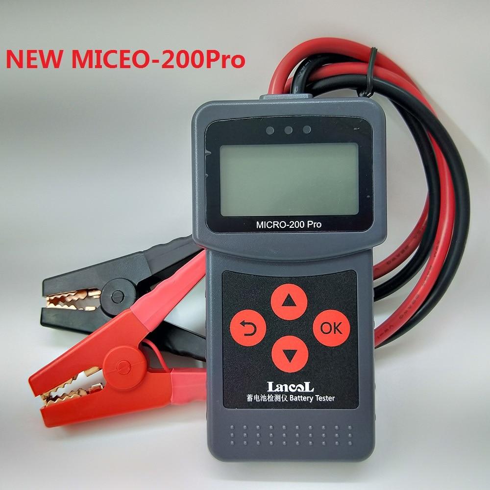 1pc Auto Batterie Tester MICRO-200 PRO 12V 24V AGM EFB Gel Batterie System Analyzer Lkw Motorrad Auto turk Diagnose Werkzeug