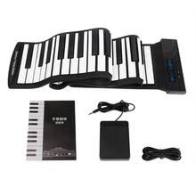 1 قطعة مفاتيح مرنة 88 Usb مرنة نشمر نشمر لوحة مفاتيح البيانو الإلكترونية المهنية مع البطارية