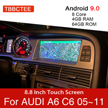 Android 9.0 4+64GB Car Multimedia Player For Audi A6 C6 4f 2005~2011 MMI 2G 3G GPS Navigation Navi Stereo Touch Monitor