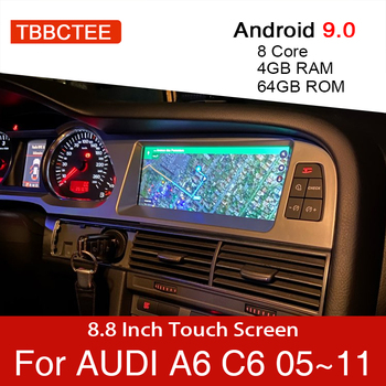 Android 9.0 4+64GB Car Multimedia Player For Audi A6 C6 4f 2005~2011 MMI 2G 3G GPS Navigation Navi Stereo Touch Monitor for audi q7 4l 2005 2010 mmi android car radio amplifier gps navigation multimedia player wifi bt navi map hd