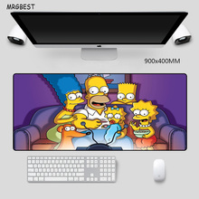 MRGBEST Popular Cartoon The Simpson Family Mouse Pad 90x40cm Extended Large XL with High-end Natural Rubber Precision Hemming