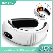 Hot!!! Electric Neck Massager,Electric Neck Massager & Pulse Back 6 Modes Power Control Far Infrared Heating Pain Relief Tool