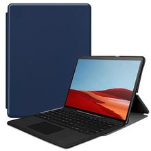 цена на Tablet Case For Surface Pro X 13 inch Case Slim PU Leather Folio Fit Stand Protective Case Compatible with Type Cover Keyboard