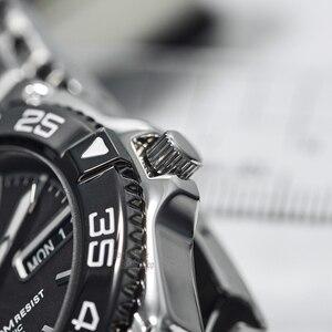 Image 3 - seiko watch men 5 automatic watch Luxury Brand Waterproof Sport Wrist Watch Date mens watches diving watch relogio masculin snzb