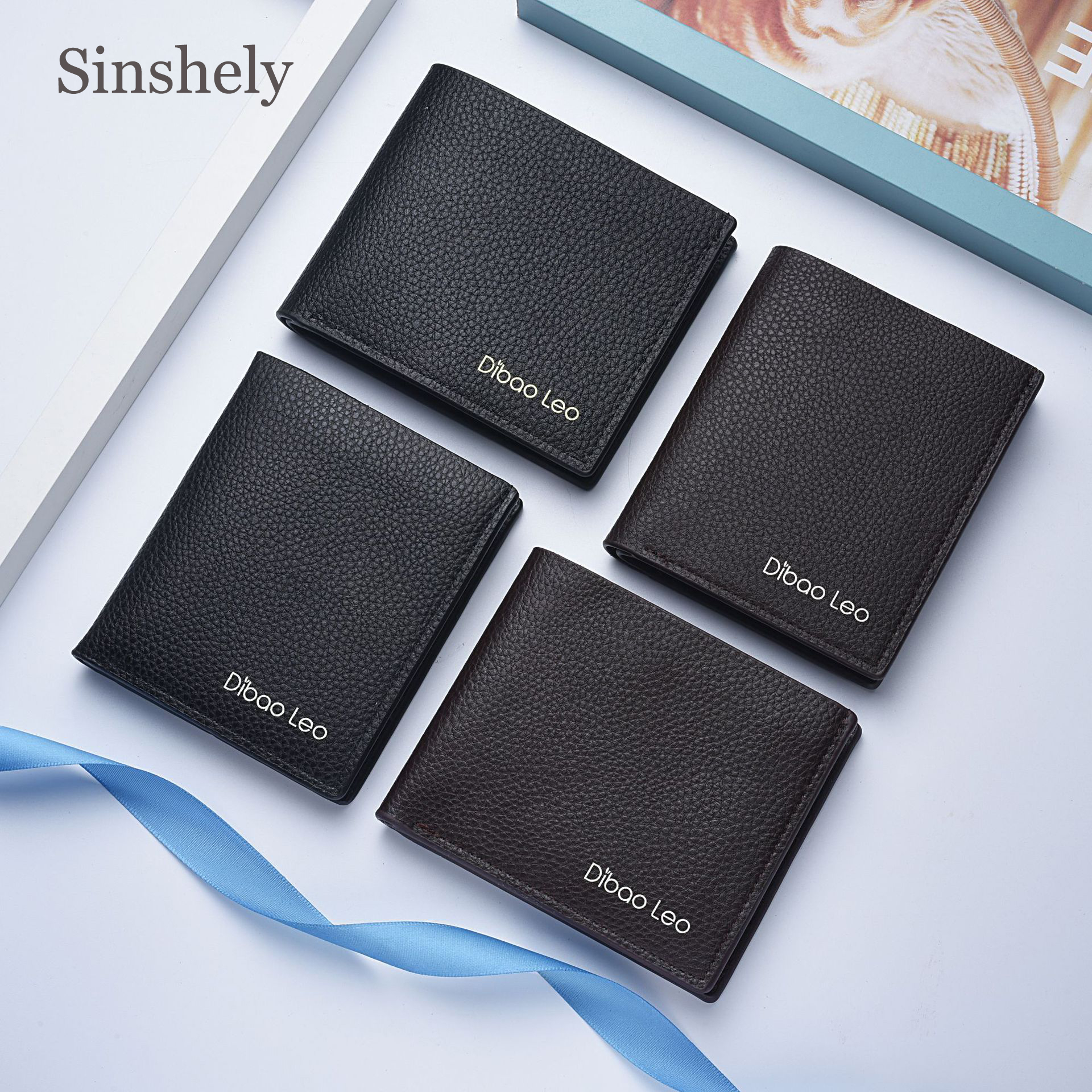 Wallet Card-Holder Money-Bag Business-Style Slim Famous-Brand Men