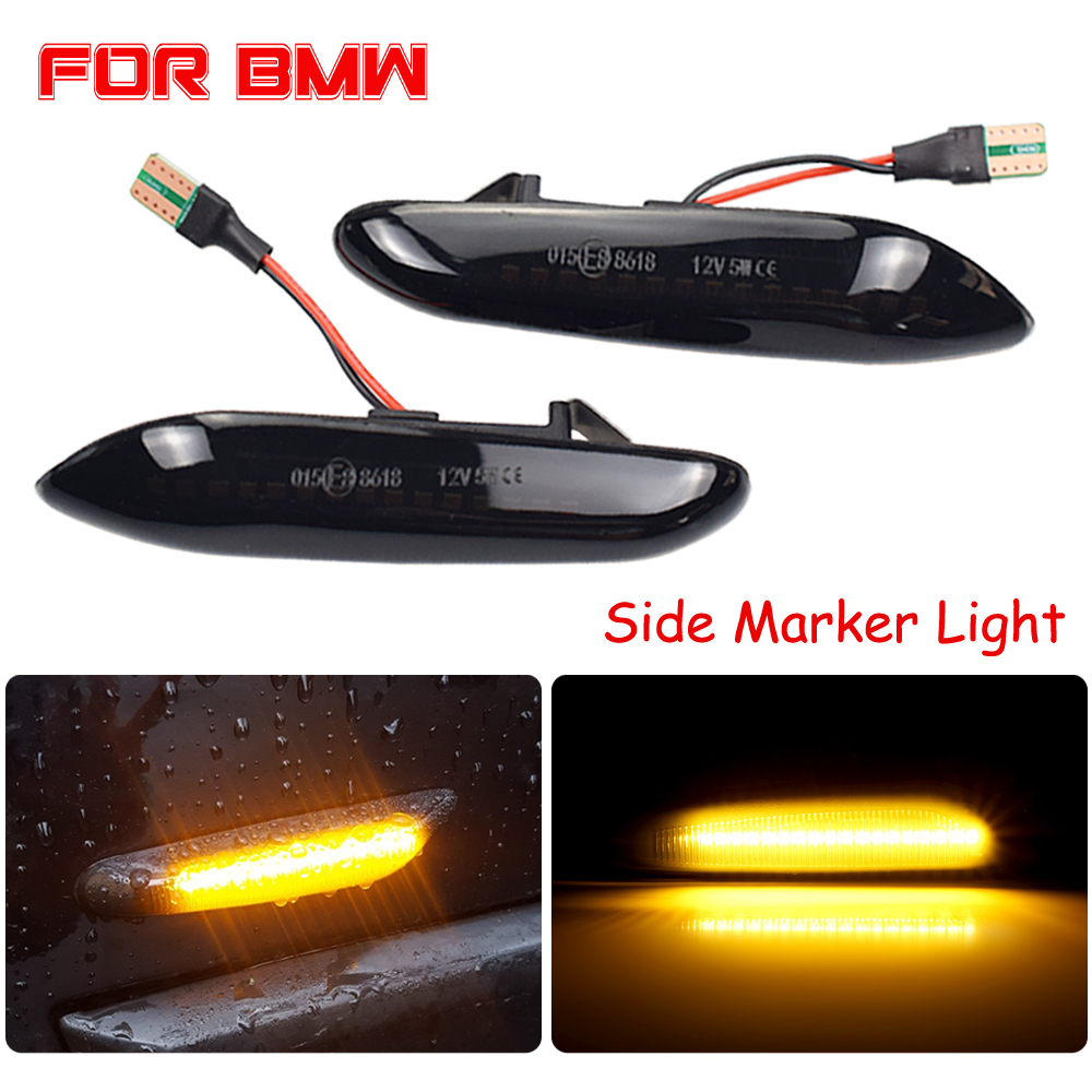 Flowing Water Blinker LED Dynamic Turn Signal Light For BMW E60 E61 E90 E91 E81 E83 E84 E88 E92 Side Marker Flashing Indicator image