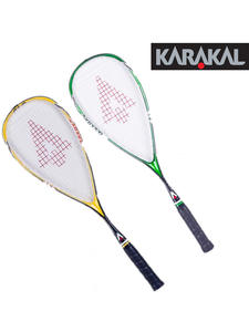 Squash-Rackets Racquet Official Graphite Carbon Green Karakal Yellow 130G with Grip-Bag