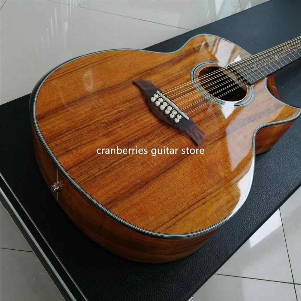 Гитара на заказ 41 &quotАкустическая гитара из дерева KOA 12 струн Акустическая модель