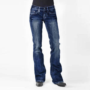 Mom Jeans Flare Wide-Leg Black Female High-Waist Plus-Size Ladies Denim Women Pants