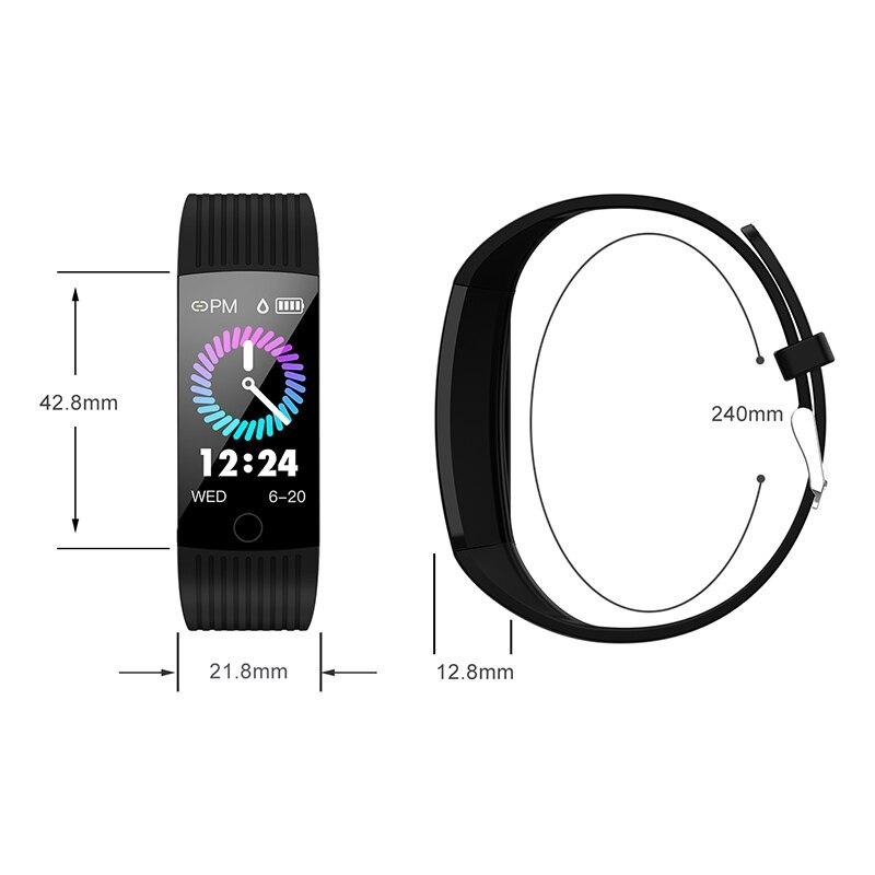 Фитнес-трекер монитор артериального давления Браслет Водонепроницаемый сенсорный экран ультра-тонкий смарт-часы браслет для iOS Android