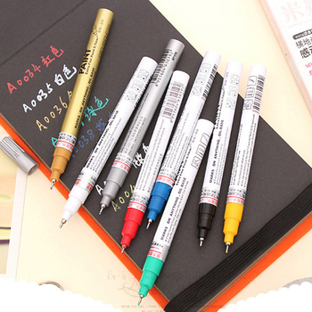 Metallic Marker 8 Colors 0.7mm Extra Fine Point Paint Marker Non-toxic Waterproof Permanent Marker Pen DIY Art 6mm acrylic paint marker pens permanent non toxic acid free quick dry water based paint pen