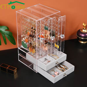 Earrings Stand-Box Jewelry Organizer Showcase Acrylic-Material Fasion Holds-Up New