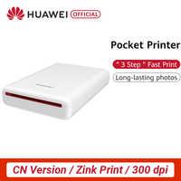 Cn versão huawei honra bolso impressora de fotos zink portátil mini bolso ar impressora de fotos 300dpi diy compartilhar 500 mah bateria