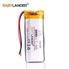 102560 3,7 V 2000 mAh литий-полимерный аккумулятор для домофона GPS DVR транспортного средства путешествия Регистратор данных Bluetooth динамик секс-игруш...
