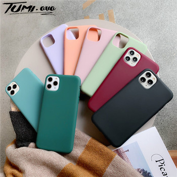 Solid Color Candy Silicone Case For iPhone SE 2020 Soft Cases For iPhone 11 Pro Xs Max Xr X TPU Cover For iPhone 7 8 6 6S PIus image