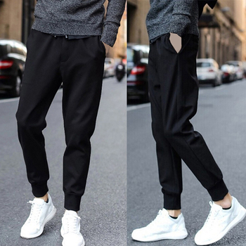 Pantalones Deportivos Informales Para Hombre Con Cordon Athletci Para Gimnasio Pantalones Para Correr En Pista Largos Pantalones De Lapiz Harem 2020 A Anvas Info
