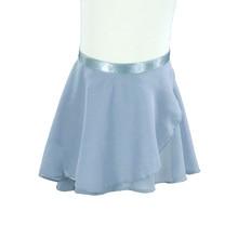 Women Ballet Dancing skirt Gray Ballet Dance Skirt Adult Children Chiffon Pure Color Floral Print Practice Leotard Dance Dress