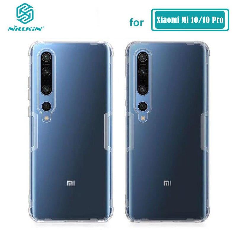 TPU Case For Xiaomi Mi 10 / 10 Pro 5G Nillkin Nature Series Transparent Clear Soft TPU Cover For Xiaomi Mi 10 Pro Case