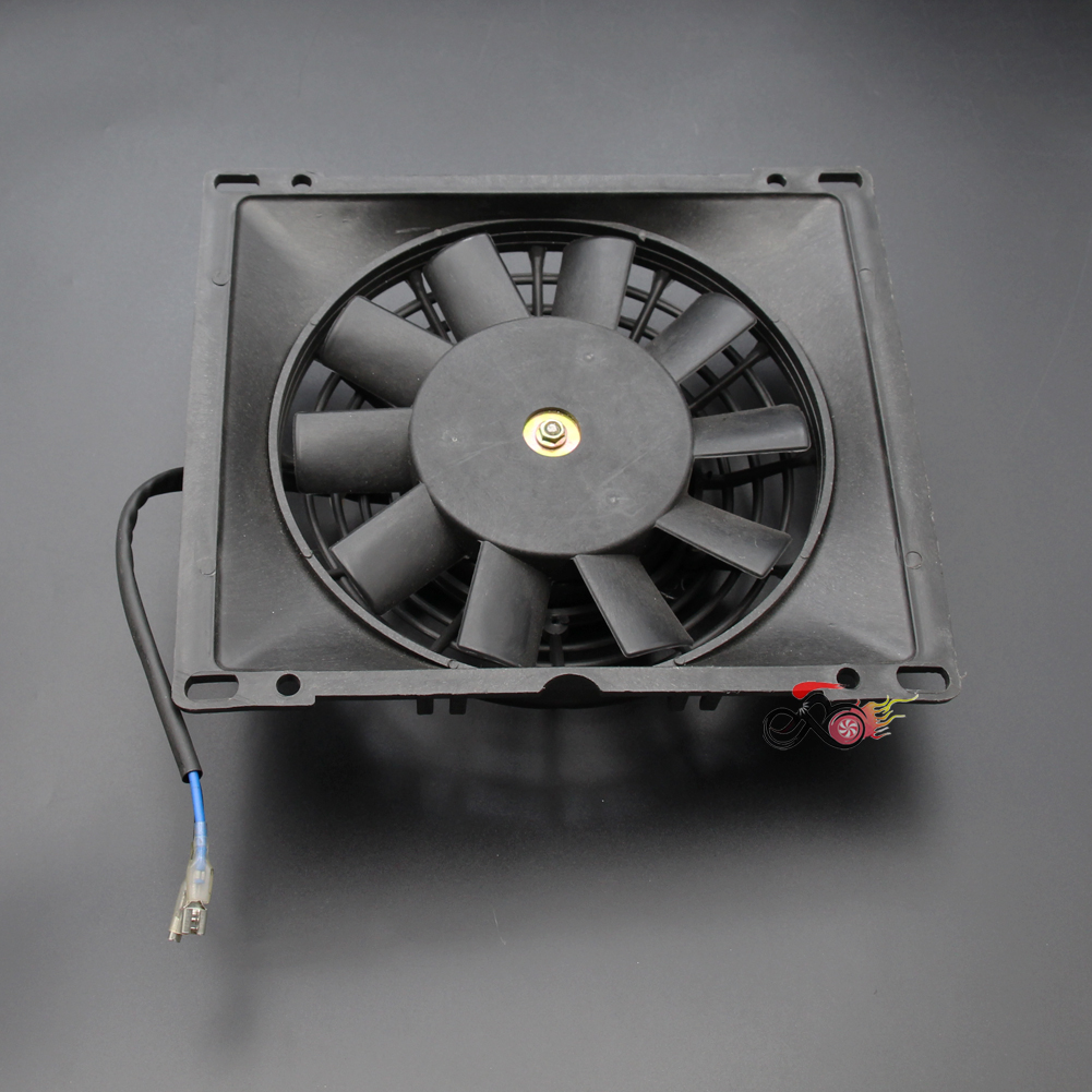 12V Radiator Thermo Electric Cooling Fan For 150cc 200cc 250cc 300cc Dirt Quad Bike ATV Buggy Go Kart
